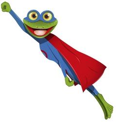 Frog superman vector