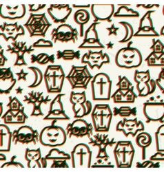 Happy halloween seamless pattern with effect vector