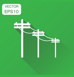 High voltage power lines icon business concept vector