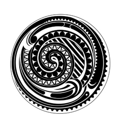 Maori circle tattoo vector image