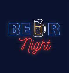Neon design for bar pub and restaurant business vector