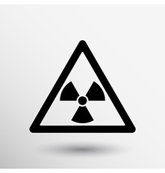 sign radiation icon caution nuclear atom power vector image vector image