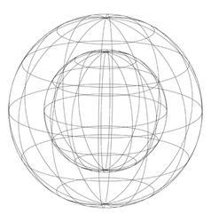 sphere within sphere vector image vector image