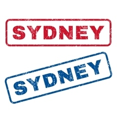 Sydney rubber stamps vector