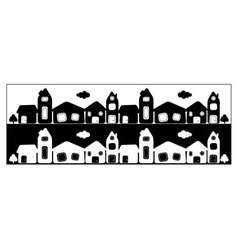 Town card vector