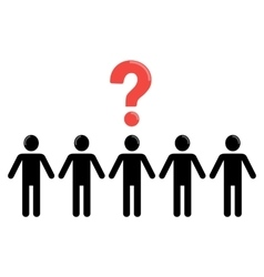 uncertainty and social group of people vector image