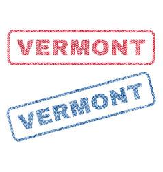 Vermont textile stamps vector