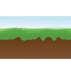 At morning fields scenery vector
