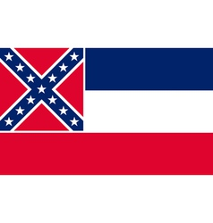 Mississippian state flag vector image