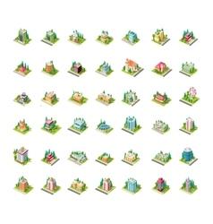 Big set isometrics building with arranged vector