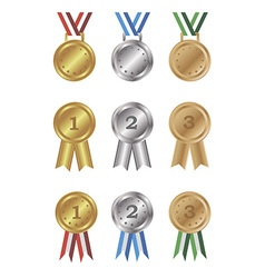 Medals and awards set vector