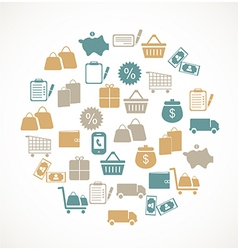 Commerce and retail icons vector