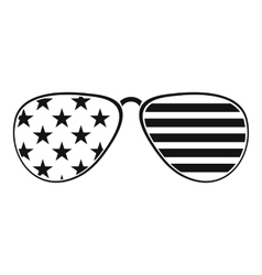 American glasses icon  simple style vector