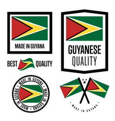 Gayana quality label set for goods vector
