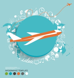 Modern infographics template style with plane vector