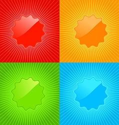 Multicolored set of empty labels on the background vector