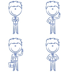 Cute and funn office worker vector image