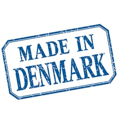 Denmark - made in blue vintage isolated label vector