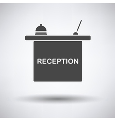 Hotel reception desk icon vector