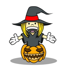 Witch costume for halloween vector