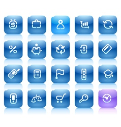 Stencil blue buttons for business vector