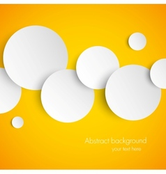 Abstract orange background with white paper vector image vector image