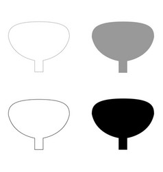 bladder the black and grey color set icon vector image vector image