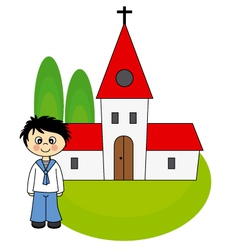 Boy first communion vector