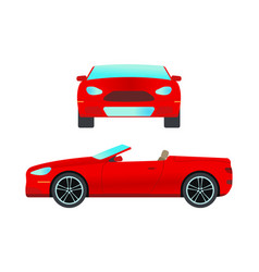 Car vehicle cabriolet transport type design travel vector