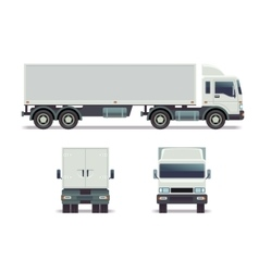 Cargo track in three points of view isolated on vector image vector image