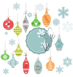 Christmas decoration isolated on white vector image vector image