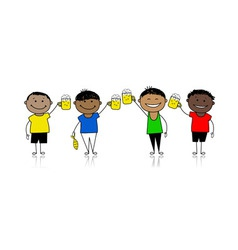 drinks party vector image