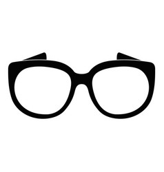 Eyeglasses for sight icon simple style vector