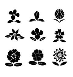 Flower back and white vector