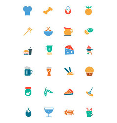 Food and drinks colored icons 5 vector
