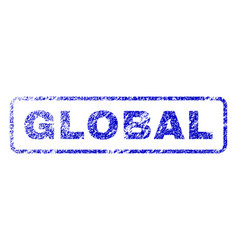 Global rubber stamp vector