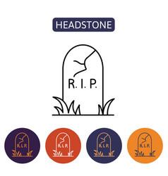 grave icon flat design vector image vector image