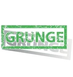Green outlined grunge stamp vector