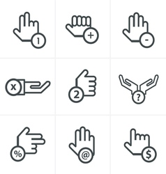 Hand with warning forefinger vector
