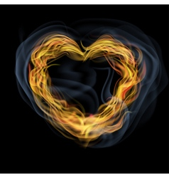 Heart of flames vector
