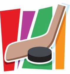 hockey graphic vector image