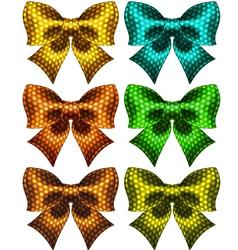 Holiday polka dot bow knots vector image