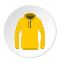 Hoody icon circle vector