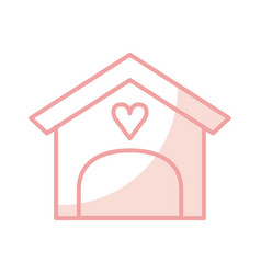 house with heart isolated icon vector image