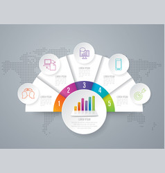 infographics design with 5 options vector image vector image