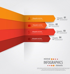 infographics minimal 6 vector image vector image