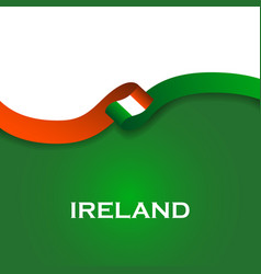 Ireland sport style flag ribbon classic style vector