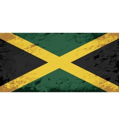Jamaican flag grunge background vector