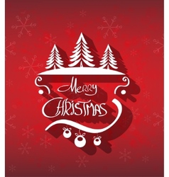 Merry Christmas hand drawn background vector image vector image