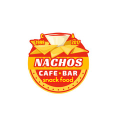 Nachos chips fast food cafe bar icon vector